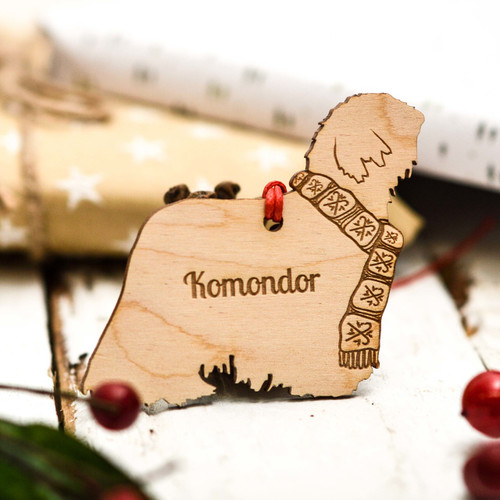 Personalised Komondor Decoration