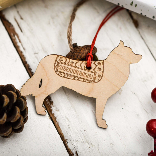 Personalised Siberian Husky Decoration