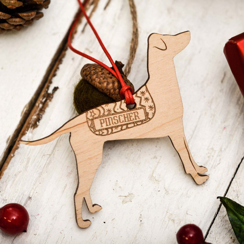 Personalised Pinscher - Floppy ears Decoration