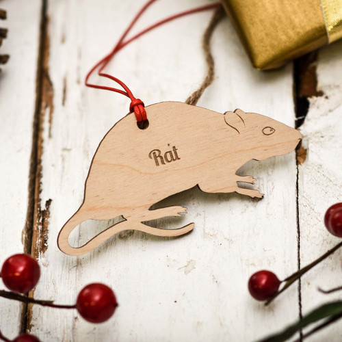 Personalised Rat Pet Decoration