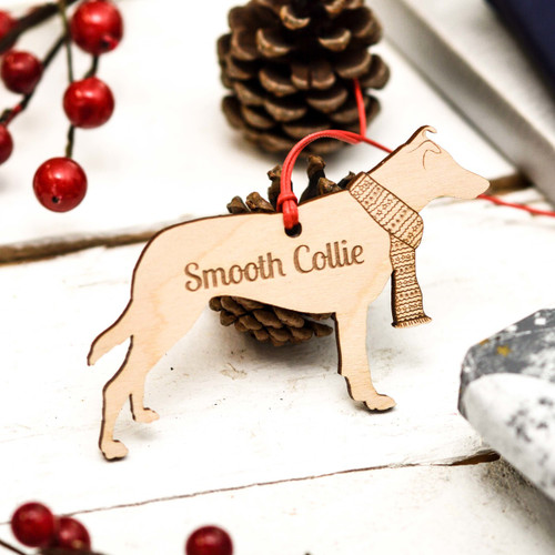 Personalised Smooth Collie Decoration