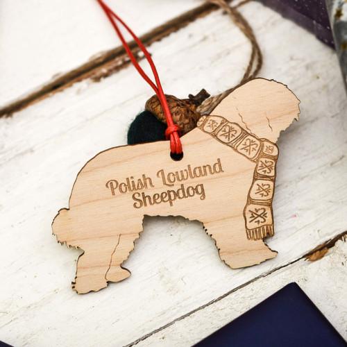 Personalised Polish Lowland Sheepdog Decoration