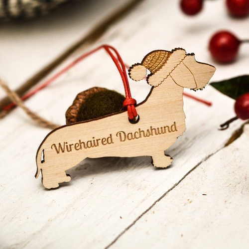 Personalised Wirehaired Dachshund Decoration