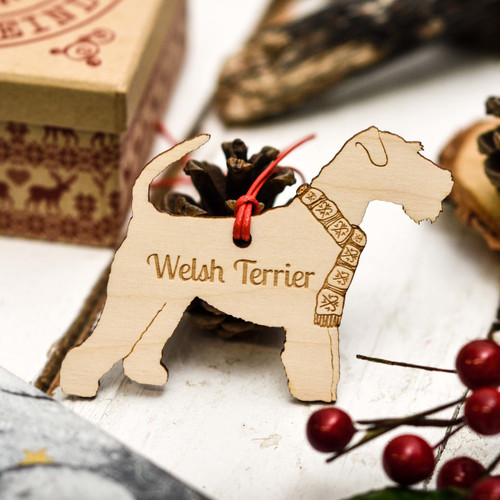 Personalised Welsh Terrier Dog Decoration
