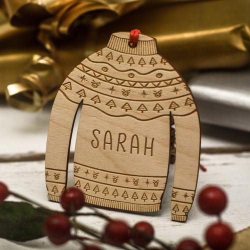 Personalised Christmas Jumper Decoration