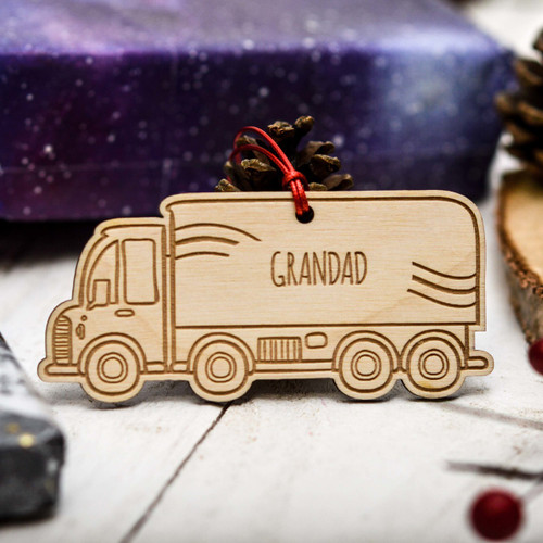 Personalised Lorry Decoration