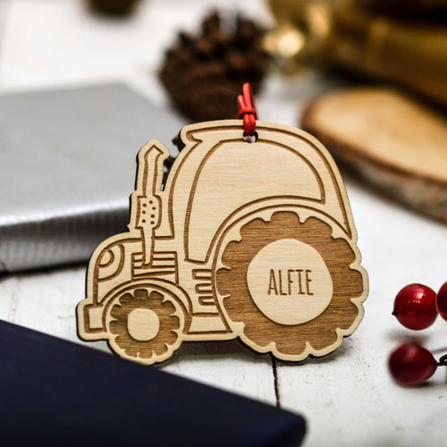 Personalised Tractor Decoration