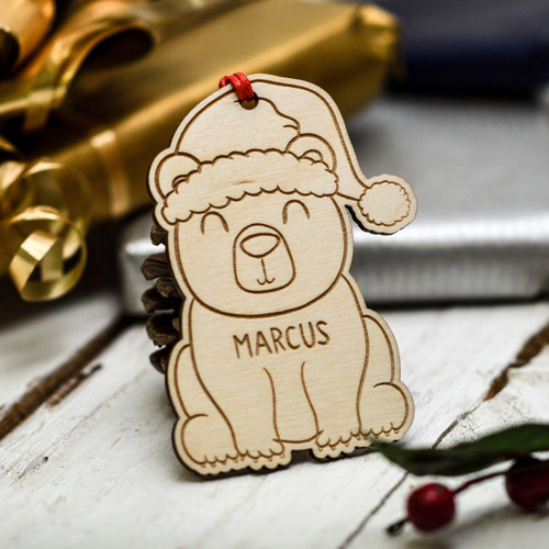 Personalised Christmas Polar Bear Decoration