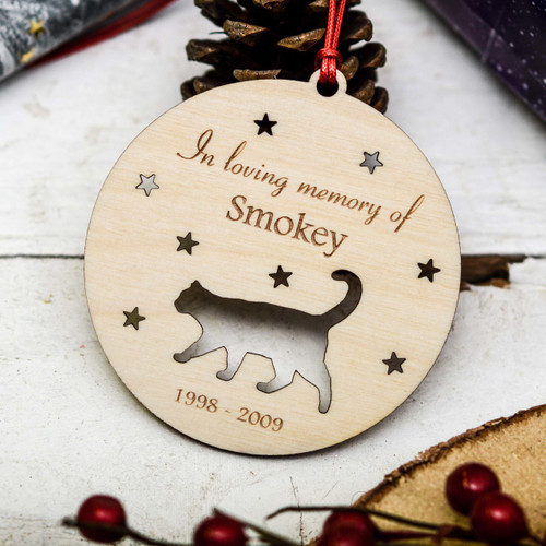 Personalised Cat Remembrance Decoration - The Crafty Giraffe