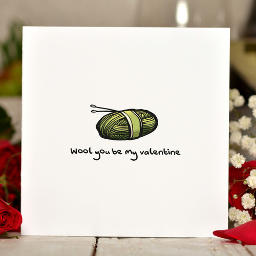 Wool you be my valentine Card