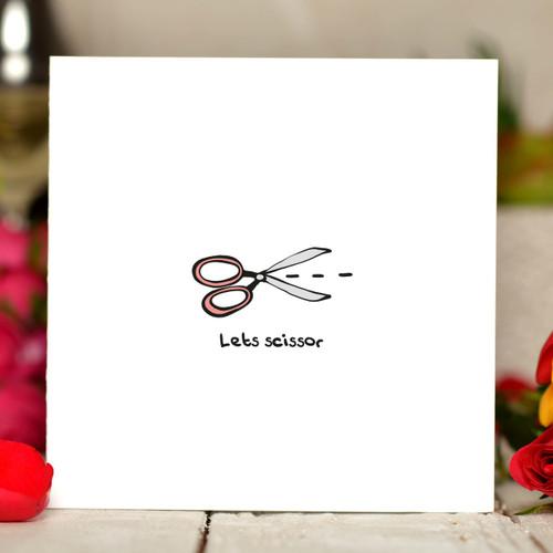 Let's scissor Card - The Crafty Giraffe