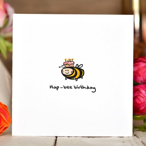 Hap-bee Birthday Card