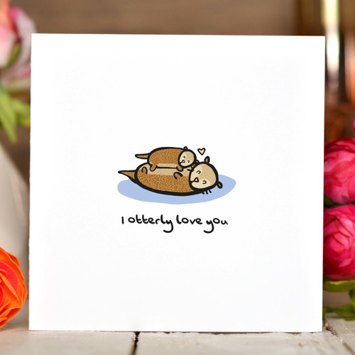 I otterly love you Card