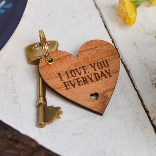 Personalised Heart Shape Valentines Keyring - The Crafty Giraffe