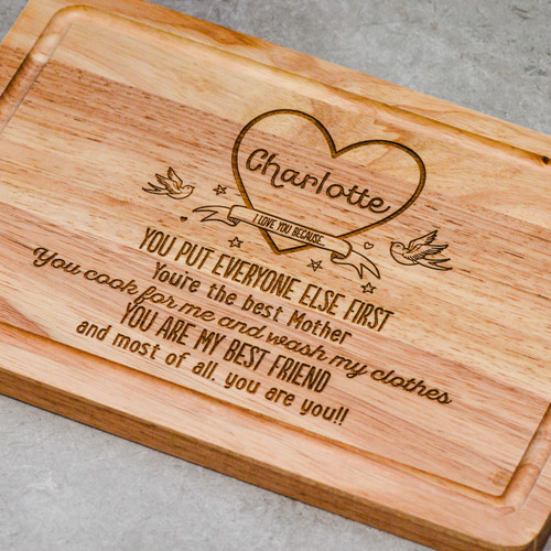 "Personalised Heart ""I love you, because"" Valentines Board - The Crafty Giraffe"