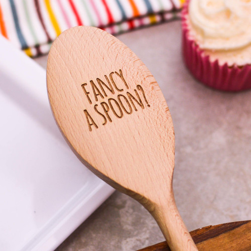Personalised Wooden Spoon - Text Style 5 Valentines