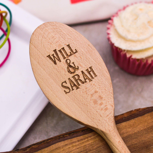 Personalised Wooden Spoon - Text Style 4 Valentines