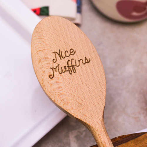 Personalised Wooden Spoon - Text Style 3 Valentines  - The Crafty Giraffe