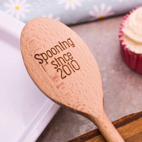 Personalised Wooden Spoon - Text Style 2 Valentines