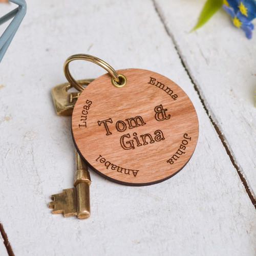 Personalised Special Names Valentines Keyring