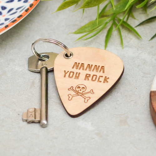 Personalised You Rock Mothers Day Keyring
