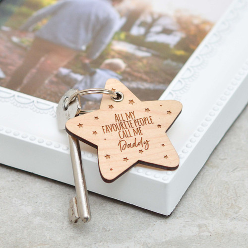 Personalised All my favouite people Fathers Day Keyring