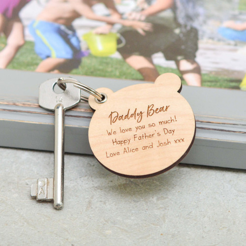 Personalised Bear Fathers Day Keyring