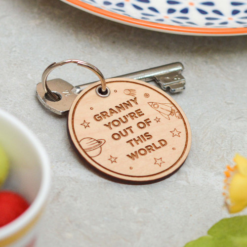 Personalised You're out of this world Mothers Day Keyring