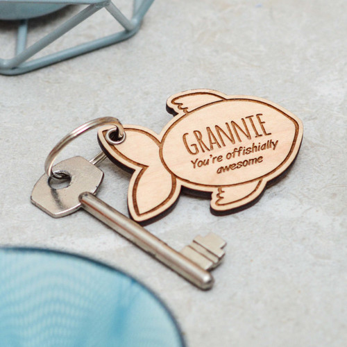 Personalised Fish Mothers Day Keyring