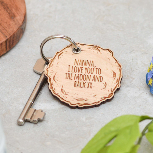 Personalised Moon Mothers Day Keyring - The Crafty Giraffe
