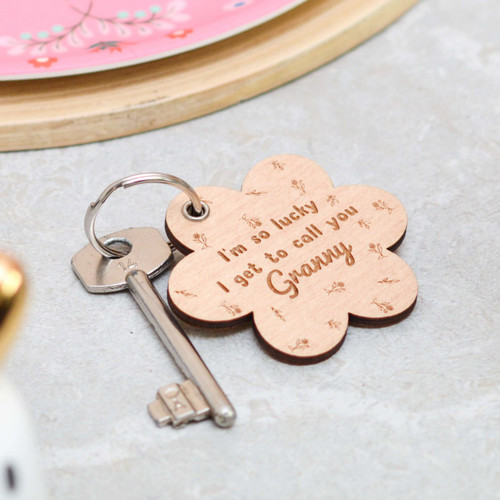 Personalised I'm so lucky I get to call you Keyring
