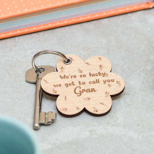 Personalised We're so lucky we get to call you Keyring