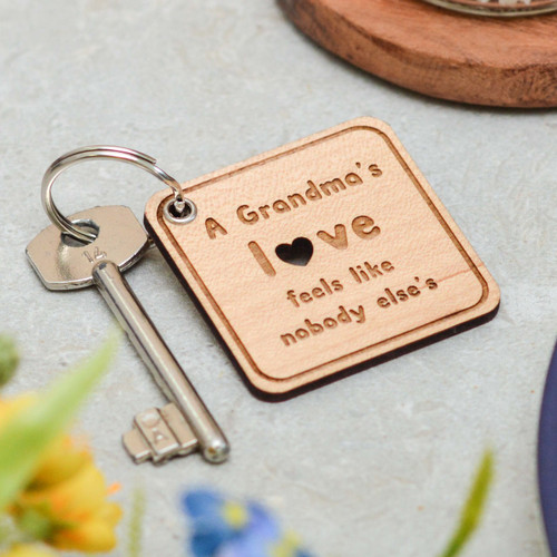 Personalised Grandma's Love Keyring