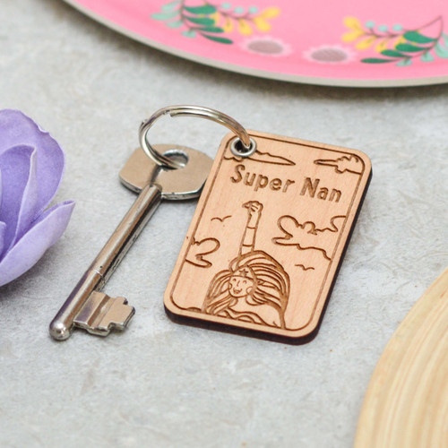 Personalised Super Nan Keyring
