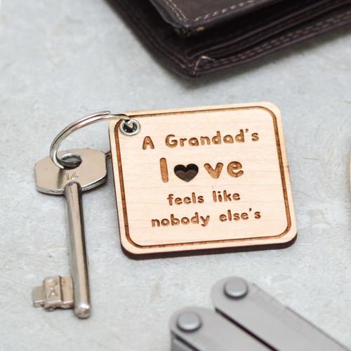 Personalised Grandad's Love Keyring