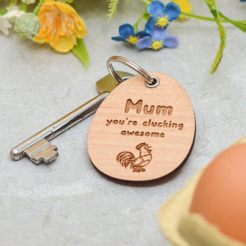 Personalised Clucking Awesome Keyring
