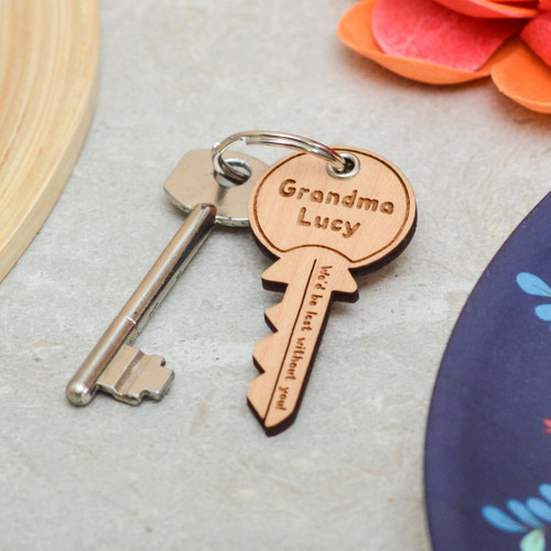 Personalised We'd be lost without you Key Keyring