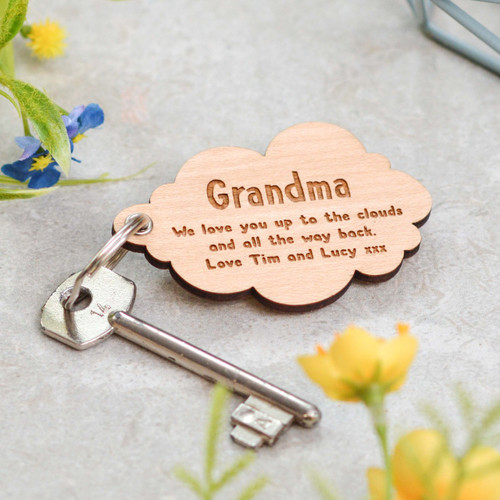 Personalised Cloud Keyring