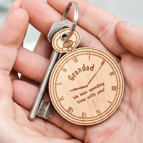 Personalised Pocket Watch Keyring