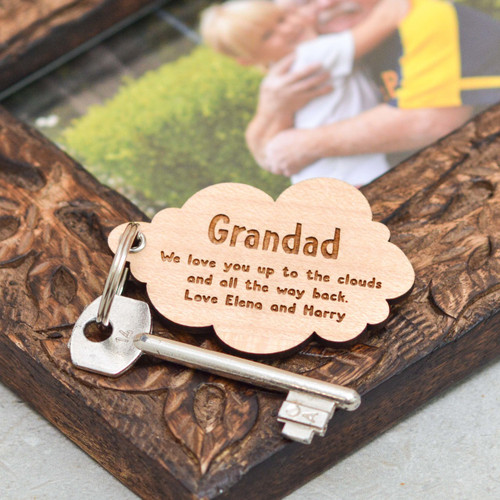 Personalised Cloud Fathers Day Keyring