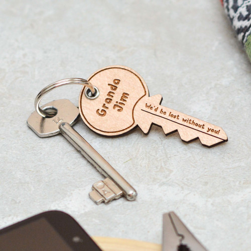 Personalised We'd be lost without you Fathers Day Keyring