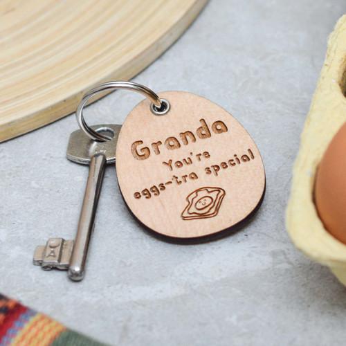 Personalised Eggs-tra Special Fathers Day Keyring