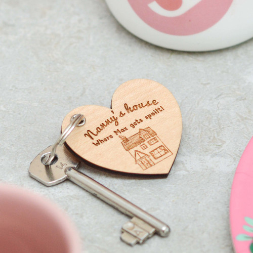 Personalised House Heart Keyring