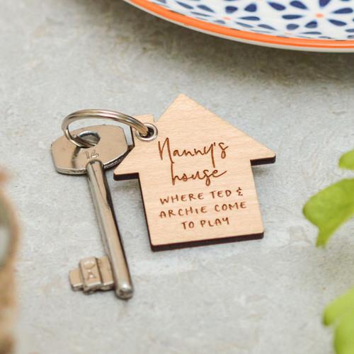 Personalised House Keyring