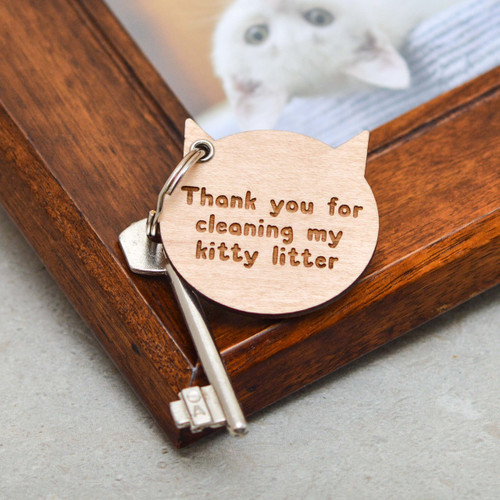 Personalised Cat Face Keyring
