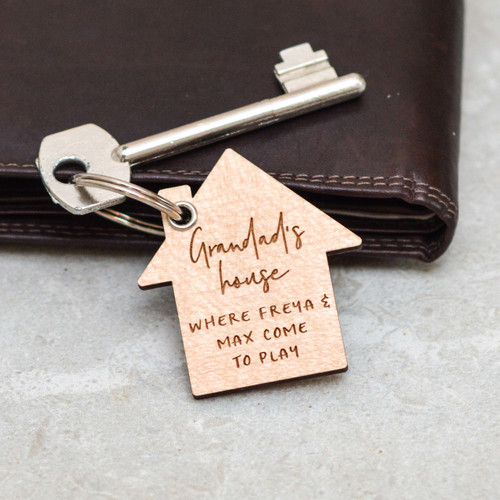 Personalised House Fathers Day Keyring
