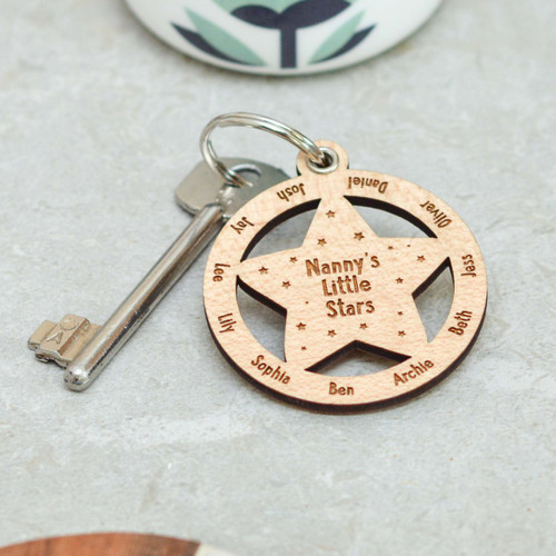 Personalised Little Stars Keyring