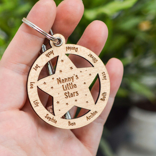 Buy Personalised Little Stars Keyring From The Crafty Giraffe, the home of unique and affordable gifts for loved ones...