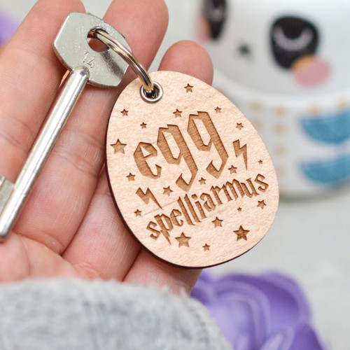 Buy Eggspelliarmus Keyring From The Crafty Giraffe, the home of unique and affordable gifts for loved ones...