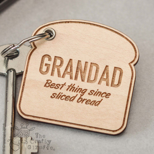 Personalised Sliced Bread Keyring - The Crafty Giraffe